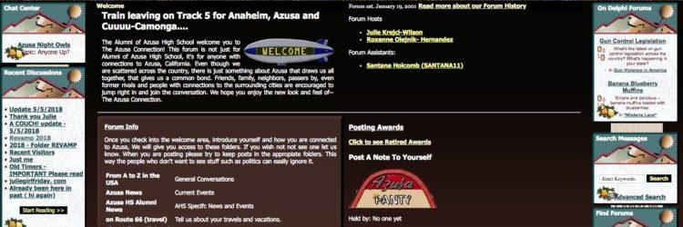 Our Azusa Alumni Message Board